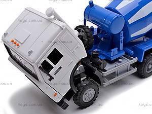 Инерционный бетоносмеситель, синий, 9117C, игрушки