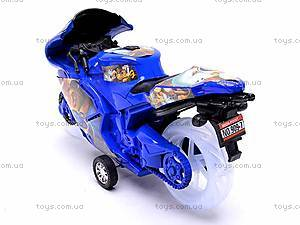 Инерционный детский музыкальный мотоцикл, 909-7, отзывы