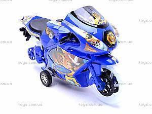 Инерционный детский музыкальный мотоцикл, 909-7, цена