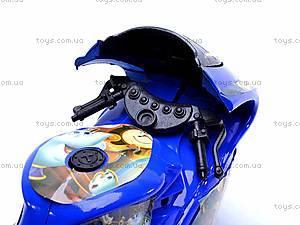 Инерционный детский музыкальный мотоцикл, 909-7, игрушки