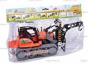 Инерционный детский трактор, 666-30B, игрушки