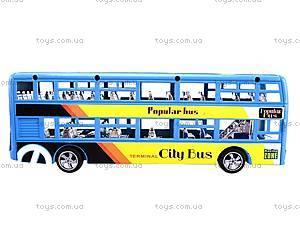 Инерционный двухэтажный автобус, 065-2, toys.com.ua