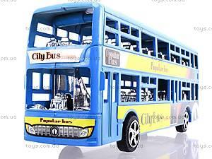 Инерционный двухэтажный автобус, 065-2, toys