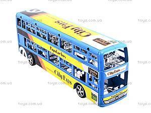 Инерционный двухэтажный автобус, 065-2, іграшки