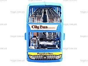 Инерционный двухэтажный автобус, 065-2, детский