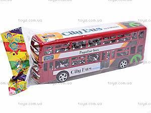 Инерционный двухэтажный автобус, 065-2, купить