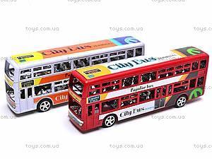 Инерционный двухэтажный автобус, 065-2, фото