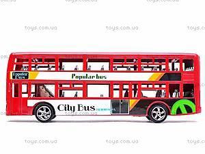 Инерционный двухэтажный автобус, 065-2, цена