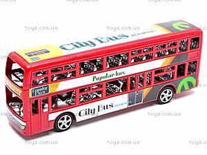 Инерционный двухэтажный автобус, 065-2, игрушки