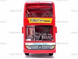 Инерционный двухэтажный автобус, 065-2, магазин игрушек