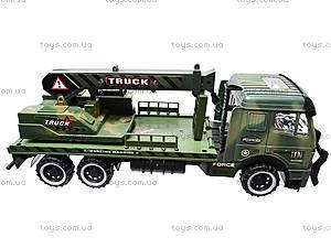 Инерционный грузовик, с краном , 668-7, игрушки