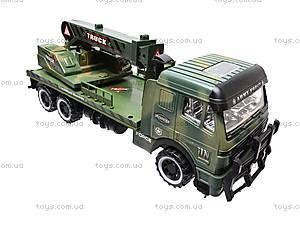 Инерционный грузовик, с краном , 668-7, детские игрушки