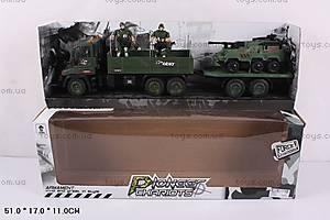 Инерционный грузовик, с прицепом, KD007-2