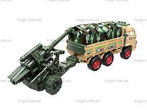 Инерционный грузовик с военной техникой, 6107, фото