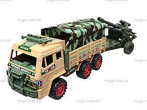 Инерционный грузовик с военной техникой, 6107, игрушки
