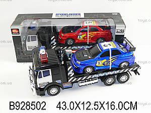 Инерционный грузовик со спортивной машинкой, 448A-B6