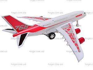 Инерционный игрушечный самолет «Airbus», 768-1, фото