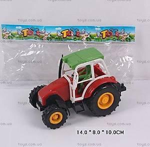 Инерционный игрушечный трактор, 168-3