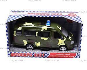 Инерционный микроавтобус «Военный», 9098-F, игрушки