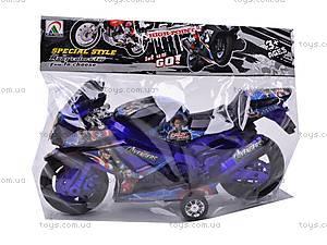 Инерционный мотоцикл, детский, 909-14/909-16, детские игрушки