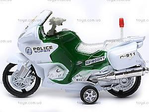 Инерционный мотоцикл «Полиция», HR628, фото