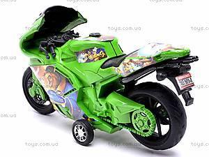 Инерционный мотоцикл «Сказочные персонажи», 909-8, фото