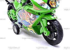 Инерционный мотоцикл «Сказочные персонажи», 909-8, игрушки