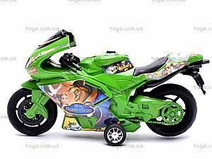 Инерционный мотоцикл «Сказочные персонажи», 909-8, детские игрушки