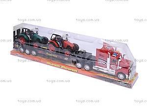 Инерционный трейлер-автовоз для детей, 9080-3A, фото