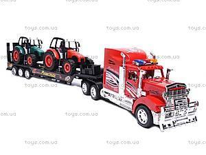 Инерционный трейлер-автовоз для детей, 9080-3A