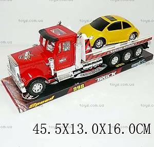 Инерционный трейлер Champion, с машинкой, 998A-A2