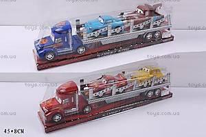 Инерционный трейлер, с 2мя машинками, 8877-6