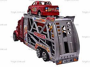 Инерционный трейлер с четырьмя авто, 598-2, купить