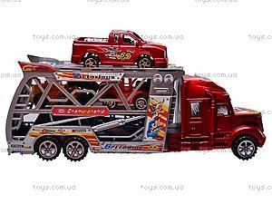 Инерционный трейлер с четырьмя авто, 598-2, фото