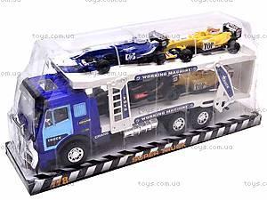Инерционный трейлер, с гоночными авто, 778A-B1, фото