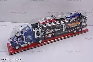 Инерционный трейлер с машинками, 45638