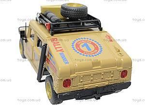 Инерционный внедорожник «Военный», 9100-A, детские игрушки