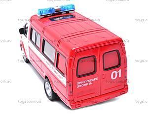 Инерциоонный микроавтобус «Пожарная охрана», 9098-A, фото