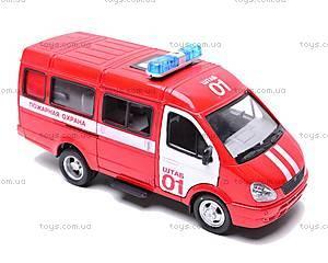 Инерциоонный микроавтобус «Пожарная охрана», 9098-A, игрушки