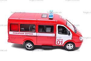 Инерциоонный микроавтобус «Пожарная охрана», 9098-A, детские игрушки