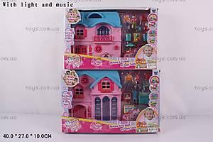 Интерактивный кукольный дом, с мебелью, 1162AB