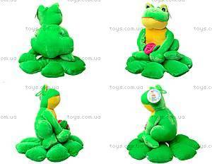 Мягкая игрушка «Жаба на листике», M-YS-2758