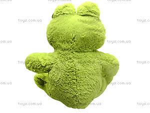 Плюшевая жаба с бантом, M-FY-537, фото