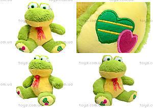 Плюшевая жаба с бантом, M-FY-537