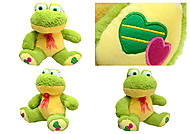 Плюшевая жаба с бантом, M-FY-537, отзывы