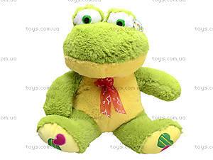 Плюшевая жаба с бантом, M-FY-537, игрушки