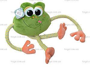 Плюшевая лягушка «Смайлик», К423В, фото