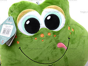 Плюшевая лягушка «Смайлик», К423В, отзывы