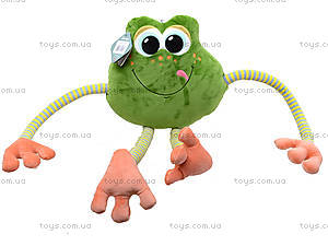 Плюшевая лягушка «Смайлик», К423В, детские игрушки