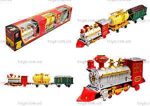 Детский поезд с дымом Railway, 2803
